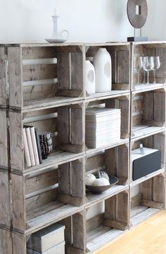 houten kratten kast